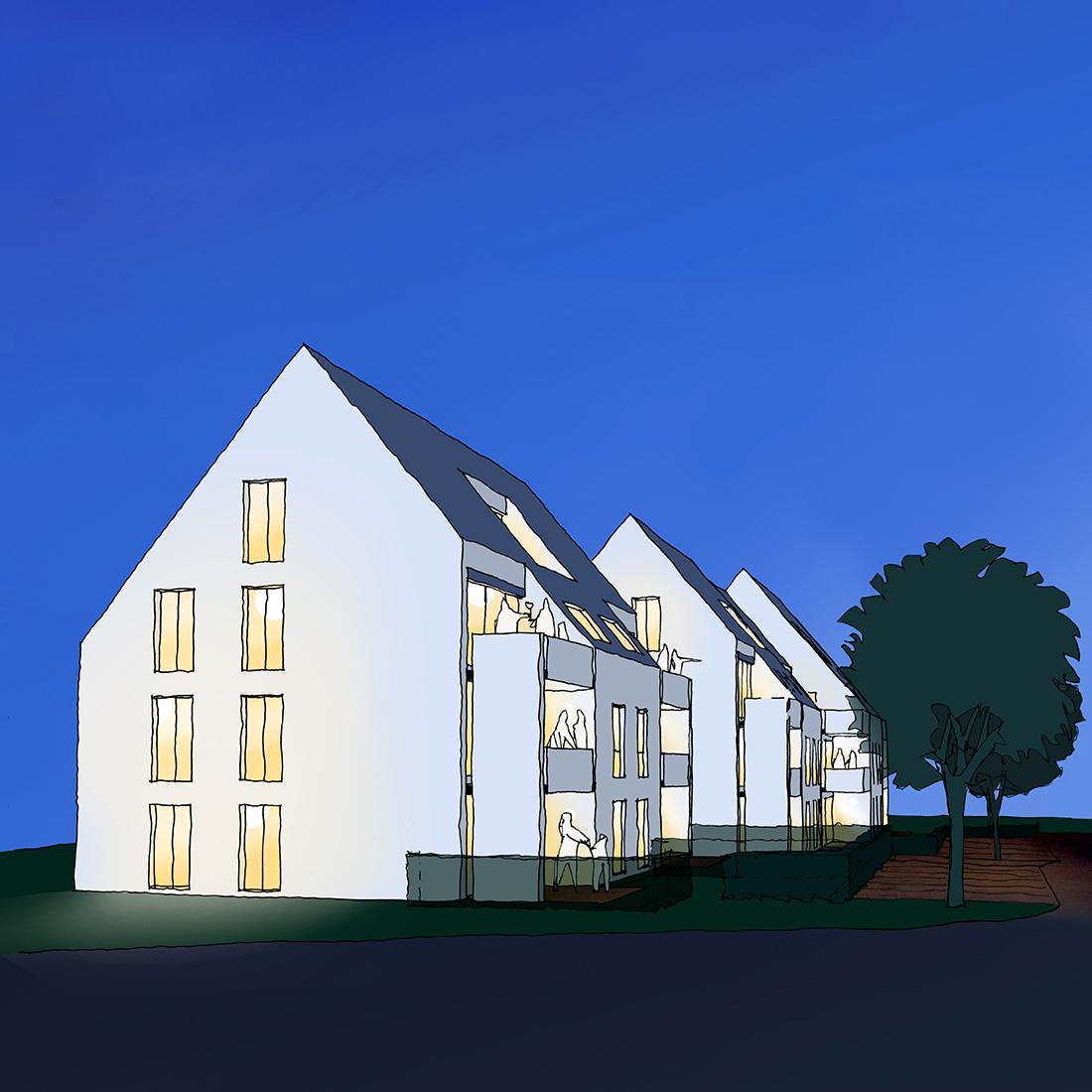 wohnbebauung_gebersheim_Bosch Skizze_Nacht